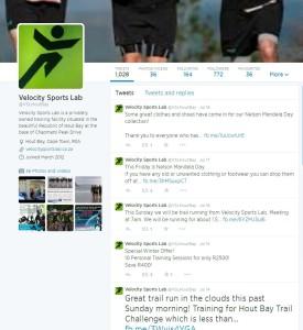 PR in the marketing mix Velocity Sports Lab twitter