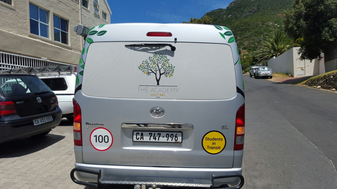 Vehicle Branding - The Academy Hout Bay