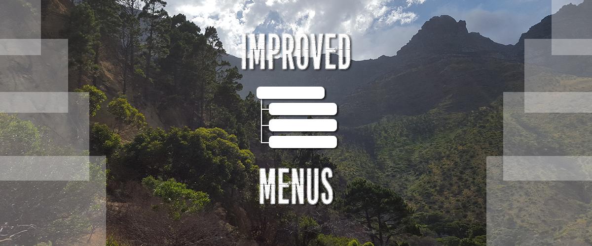 improved menus